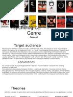 Psychological Thriller Genre