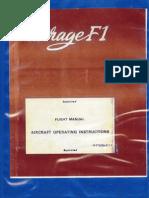 Mirage f1 Flight Manual