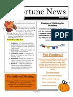 FS Newsletter - September 2014