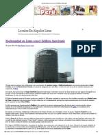 Modernidad en Lima Con El Edificio Interbank