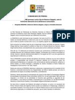 150114 COMUNICADO_Denuncia RNDDHM Amenaza Contra Hija de Nestora Salgado