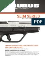 Taurus Slim Series 9mmpt709