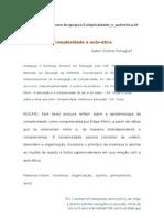 ÉTICA - ARTIGO - Complexidade e auto-ética - IZABEL CRISTINA PETRAGLIA