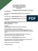 Discurso del presidente Danilo Medina en el Foro de la Diplomacia Dominicana 2015