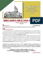 HORA SANTA CON EL PAPA. La Iglesia, peregrina hacia el Cielo (15)