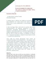 ÉTICA - ARTIGO- OS CINCO SABERES DO PENSAMENTO COMPLEXO -UMBERTO MARIOTTI