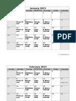 2015 Meeting Schedule