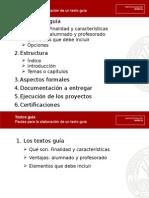 Presentación Textos Guia 2013