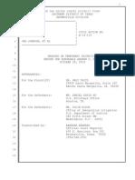 TAITZ v JOHNSON - Hearing Transcript 10-29-14