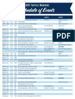 2015 Mariners Special Events