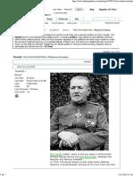 The First World War. Оборона Осовец
