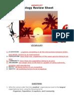 14-ecology review sheet-key