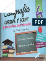 Caligrafia 6 para niños de primaria