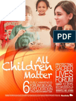 ALL CHILDREN MATTER 2015 AGENDA PACKAGE