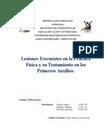 Lesiones Frecuentes en la Práctica Física y su Tratamiento en los Primeros Auxilios..docx