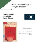 Mayntz Holm y Hubner Introduccion a Los Metodos de La Sociologia Empirica