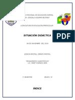 Situación didáctica y lista de antecedentes