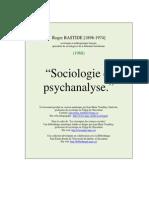 Sociologie Et Psychanalyse