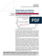 CS Gold Supply and Demand Update