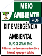 Kit Emergência Ambiental