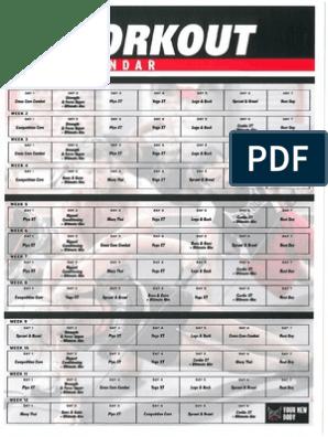Tapout Hybrid Calendar