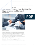 """The Basics _ Part 3 â€"""" How do I Find the Right Investors and Partners_ - BoF - The Business of Fashion"""