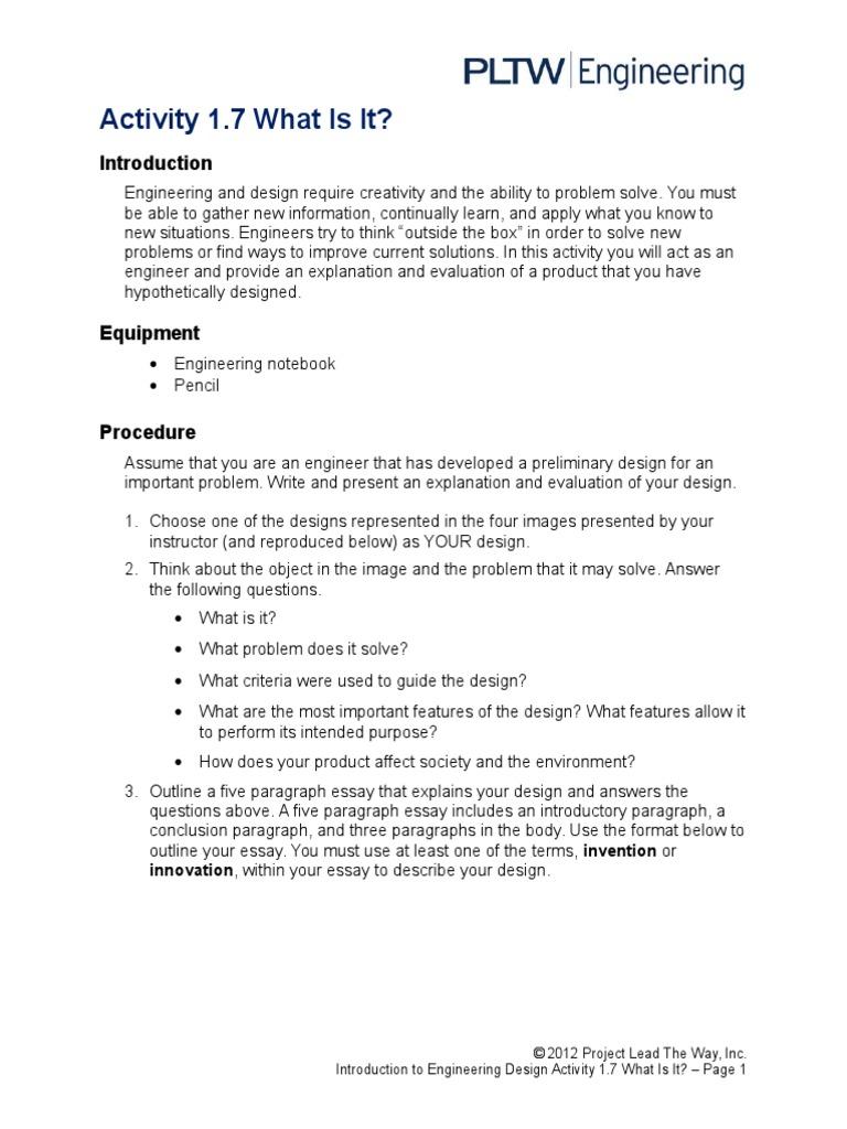 outline for five paragraph essay