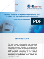 Country Analysis - A Frameowrk to Identify and Evaluate the Antiona Business Environment