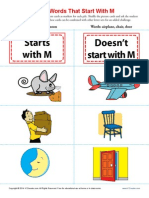 Sort Words That Start With m