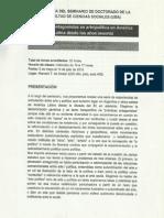 Programa Seminario de Doctorado de La Facultad de Ciencias Soci