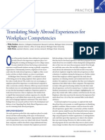 Translating Study Abroad Experiences for Workplace Competencies