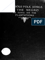 Religious folk songs of the negro as sung on the plantations