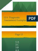 Lesson 1 - LIA Diagnostic Presentation