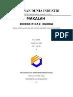 Diversifikasi Energi