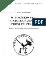 W Poszukiwaniu Ontologicznych Podstaw Prawa M Piechowiak