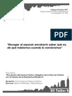 Vinvulacion del espacio positivo y negativo- Chillida y Arquitectura Moderna