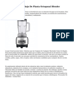 Mecanismo De Trabajo De Planta Octogonal Blender
