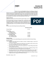 Turlock Electric Rates - Schedule De