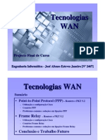 jaejaneiro [Tecnologias WAN] - ]Apresentação de projecto final de curso