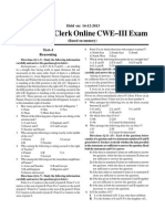 IBPS Bank Clerk Online_14!12!2013_Previous Paper