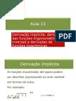 13-Derivação Implícita