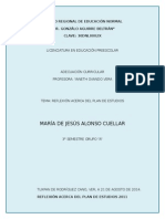Reflexión Acerca Del Plan de Estudios 201