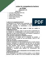 Preguntas Sobre La Competencia Lectora en PISA