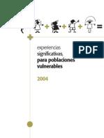 Experiencias significativas  para poblaciones vulnerables, Colombia