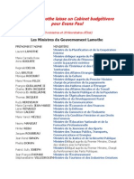 Laurent Lamothe laisse un Cabinet budgétivore pour Evans Paul