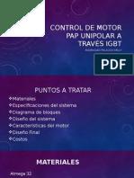 Control de Motor Pap Unipolar a Través IGBT