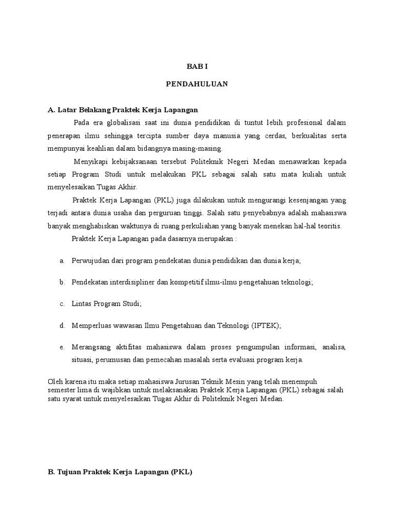 Contoh Laporan Pkl Pengolahan Kelapa Sawit