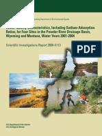 Water-Quality Characteristics, Including Sodium-Adsorption Ratio
