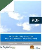 RETOS ESTRUCTURALES DE LA ECONOMIA DE GIPUZKOA