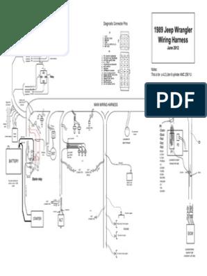 1989 jeep wrangler yj 4.2 liter wiring harness diagram | pdf  scribd